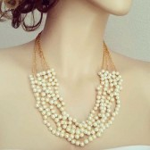 Gold Bridal Statement Necklace