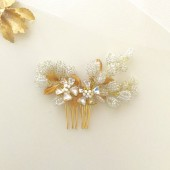 Lily Bridal Hair Comb Beaded Hair Comb
