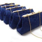 Navy Blue and Champagne Bridesmaid Gift Set