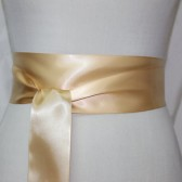Light Gold Ribbon Sash