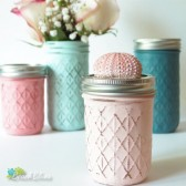 Beach Cottage Painted Mason Jars