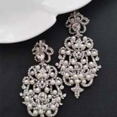 Bridal Statement Earrings Victorian Style Chandelier Wedding Earrings