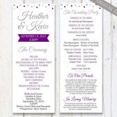 wedding program, printable wedding program, silver sparkle program