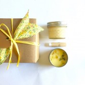 Citrus Gift Set Soy Candle Whipped Body Butter Lip Balm - Bridesmaid Gift wedding gift