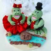 crocodile cake topper, wedding cake topper, custom cake topper