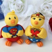 chick cake topper, wedding cake topper, superhero cake topper, nerd cake topper, geek cake topper, cute cake topper, custom cake topper