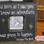 As soon as I saw you, Winnie The Pooh quote, Picture frame