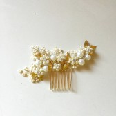 Ivory and Gold Bridal Hair Comb Delicate Hair comb Style HC07
