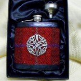 Harris Tweed celtic knot flask