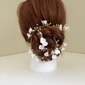 Bridal Hair Vine floral vine White Flowers Wedding Handmade Flowers