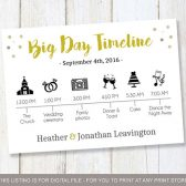 B&W Big Day Timeline, Wedding Timeline ideas