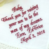 Mother of the Groom Gift Handkerchief