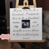 Live to be one hundred, Winnie The Pooh quote, Picture Frame