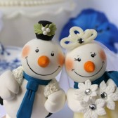 Snowman cake topper, winter wedding, winter cake topper, winter wonderland wedding, bride and groom