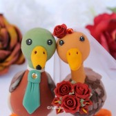 Duck cake topper,custom cake topper, wedding cake topper, cute cake topper, bride groom figurines, personalized wedding, hand made cake topper, animal cake topper, wedding keepsake