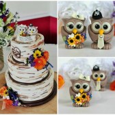 Owl wedding cake topper, love birds, custom cake topper, wedding cake topper, owl cake topper, love bird cake topper, personalized wedding, cute cake topper, hand made cake topper, sunflower wedding