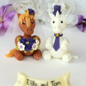 Horse unicorn cake topper, wedding cake topper, custom cake topper, hand made cake topper, wedding unicorn, purple wedding, Etsy