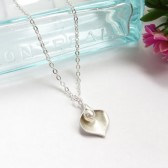 Calla Lily Pearl Necklace