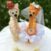 Llama cake topper, wedding cake topper, cute cake topper, funny cake topper, wedding keepsake, custom bride groom, personalized wedding, animal cake topper