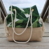Palm Leaf Beach Bag