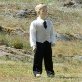 linen ring bearer suit