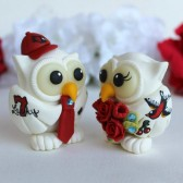 owl cake topper, love bird cake topper, custom cake topper, tattoo cake topper, tattoo wedding