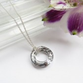 Eternity Circle Swarovski Pendant