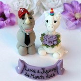 unicorn cake topper, rhino cake topper, wedding cake topper, custom cake topper