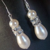 Swarovski Pearl & Crystal Earrings