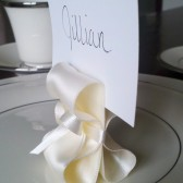 Ribbon Escort Card Holders - Ivory