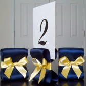 Ribbon Table Number Holders