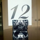 Ribbon Table Number Holder