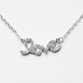 Silver Script love necklace