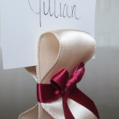 Ribbon Place Card Holders - Champagne & Wine