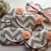 Chevron Bridesmaid Clutches