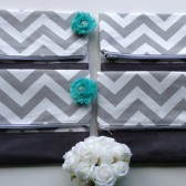 Chevron Fold Over Clutch