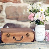 One Painted and Distressed Shabby Chic Mason Jar