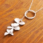 Silver Orchid Lariat
