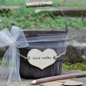 Wedding Guest Book Rustic Set Personalization Choice, Kraft Hearts, Twig Pen, Jute Twine and Tulle