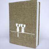 Wedding guest book white Deers