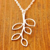 Silver Branch Necklace