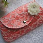 Satin Lace Clutch