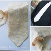 Grooms lace tie
