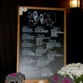 23x35 Seating Chart Chalkboard