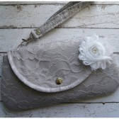 Lace Curvy Clutch