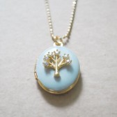 Family Tree Gold Locket - Memory Keepsake