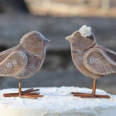 Wedding Cake Toppers Love Birds, Personalized