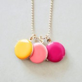 Small Lockets Trio Charm Necklace - Your Color Choice