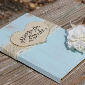 Advice for the Bride Guest Book Rustic Shabby Chic Weddings