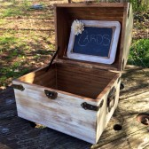 White Distressed Medium Sized Card Chest